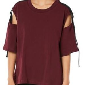 LF Emma and Sam Short Sleeve Cut Out Shoulder Tee